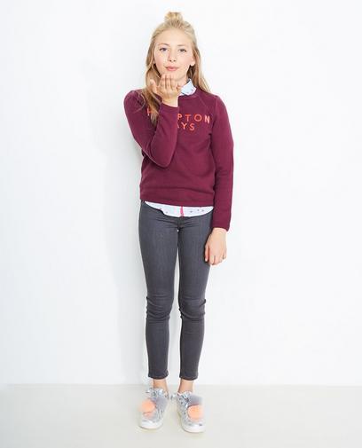 Sweater met reliëfprint